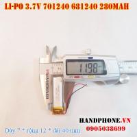Pin Li-Po 3.7V 280mah 701240 681240 (Lithium Polymer)
