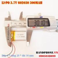 Pin Li-Po 3.7V 300mAh 602030 (Lithium Polymer)