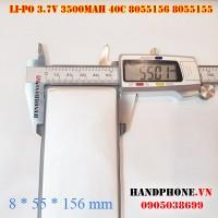 Pin Li-Po 3.7V 3500mAh 8055156 8055155 dòng xả cao 40C cho RC