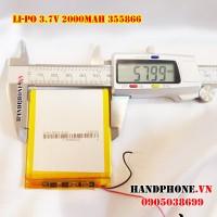 Pin Li-Po 3.7V 355866 2000mAh