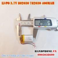 Pin Li-Po 3.7V 400mAh 802030 782030 (Lithium Polymer)