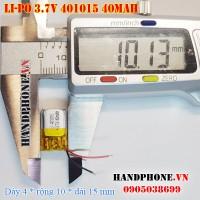 Pin Li-Po 3.7V 40mAh 401015 (Lithium Polymer)