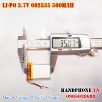 Pin Li-Po 3.7V 500mAh 602535 (Lithium Polymer)