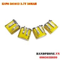 Pin Li-Po 3.7V 501012 50mAh cho tai nghe Bluetooth