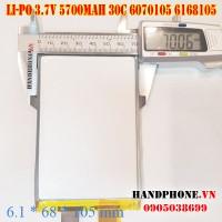Pin Li-Po 3.7V 5700mAh 6070105 6168105 dòng xả cao 30C cho RC