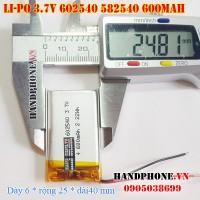 Pin Li-Po 3.7V 600mAh 602540 582540 (Lithium Polymer)