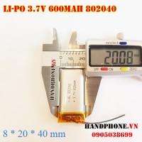 Pin Li-Po 3.7V 600mAh 802040
