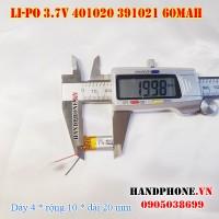 Pin Li-Po 3.7V 60mAh 401020 (Lithium Polymer)