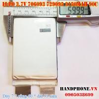 Pin Li-Po 3.7V 3150mAh 706093 726095 dòng xả cao 90C cho RC