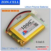 Pin Li-Po ZonCell 3.7V 1000mAh 603050 603048