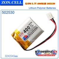 Pin Li-Po ZonCell 3.7V 400mAh 502530