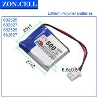 Pin Li-Po ZonCell 3.7V 500mAh 602525 662627