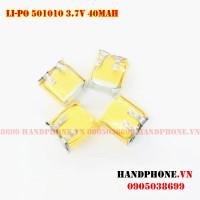 Pin Li-Po 3.7V 501010 40mAh cho tai nghe Bluetooth
