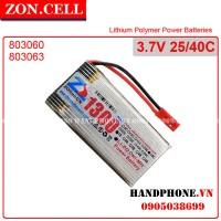 Pin Li-Po ZonCell 3.7V 1300mAh 803060P25 dòng xả cao 35/50C