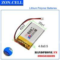 Pin Li-Po ZonCell 3.7V 600mAh 502540 452540 402440