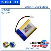Pin Li-Po ZonCell 3.7V 800mAh 553040 603040