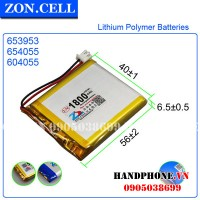 Pin Li-Po ZonCell 3.7V 1800mAh 604055 6540455